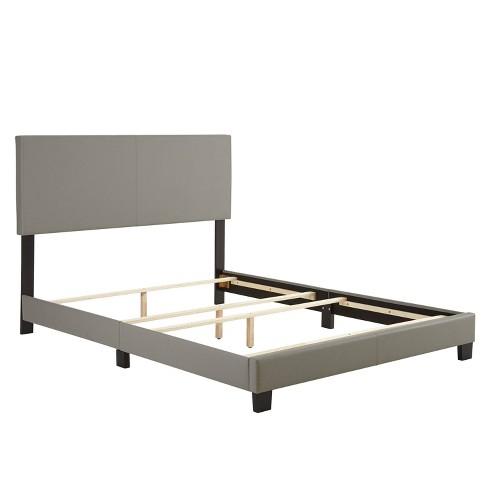 Langley Leather Upholstered Platform Bed Frame - Eco Dream - image 1 of 4