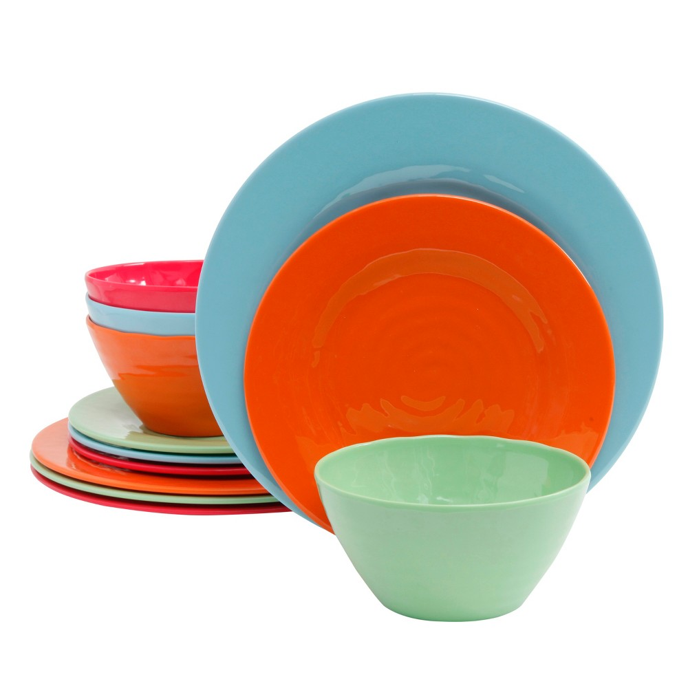 Image of Dinnerware Set Gibson Home Solid, Multi-Colored