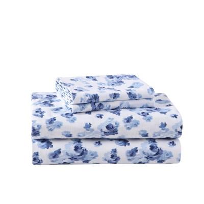 Printed Pattern Flannel Sheet Set - Laura Ashley
