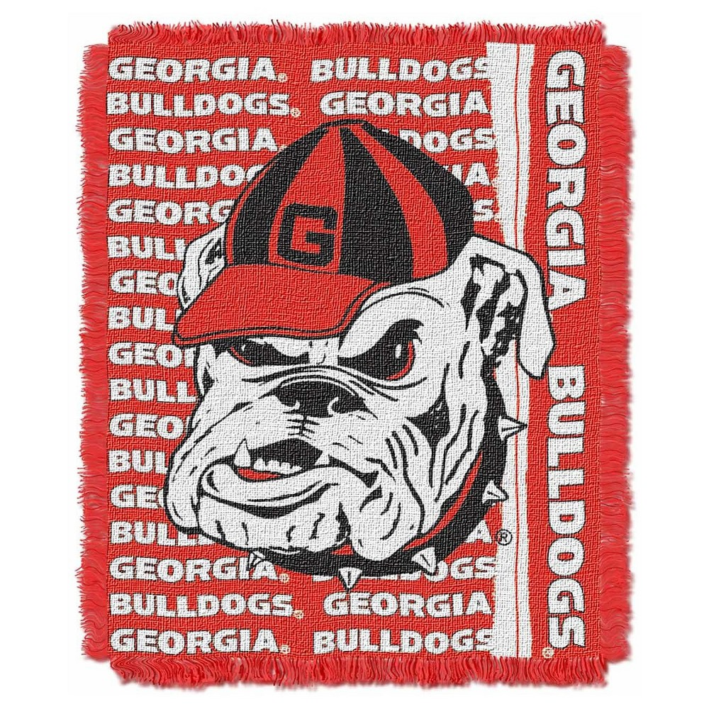 NCAA Triple Woven Throw Georgia Bulldogs 48X60 Inches