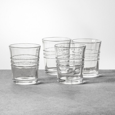 4pk Embossed Glass Drinkware Short - Hearth & Hand™ with Magnolia