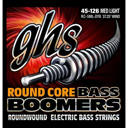 GHS RC-5MLDYB Round Core Boomers Medium/Light 5-String Electric Bass Strings (45-126) - image 1 of 1