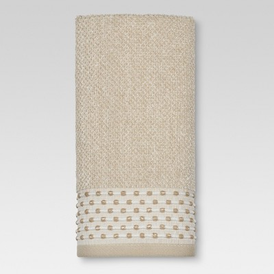 Hand Towels Tan Dot Border Brown - Threshold™ - Threshold™