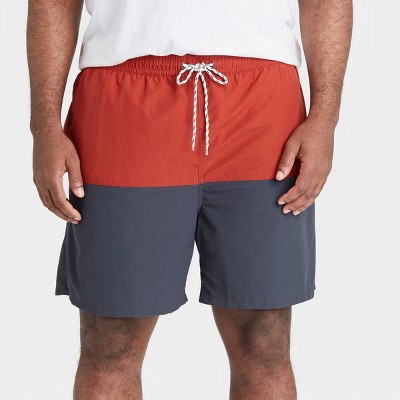 "Men's Big & Tall 7"" Swim Trunks - Goodfellow & Co™ Roasted Pepper"
