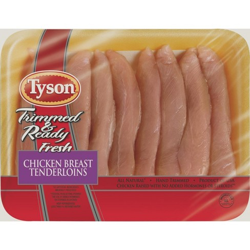 Tyson Trimmed & Ready Chicken Tenderloins - 1.25-2.1 lbs - price per lb - image 1 of 3