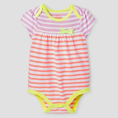 9f7f0a21a4f8 Baby Girls  Striped Bodysuit - Cat   Jack™ Yellow 3-6 Months   Target