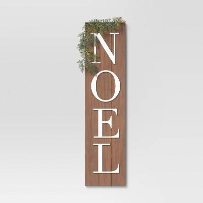"10"" x 40"" Noel Wood Sign Panels Brown - Threshold™"