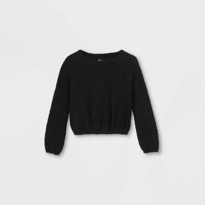 Girls' Crew Neck Knit Pullover - art class™