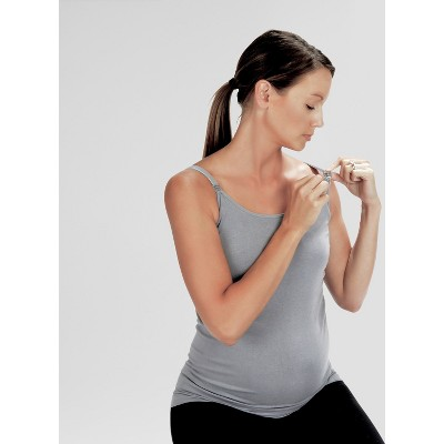 Bamboobies Nursing Tank - Gray S