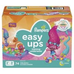 Pampers Easy Ups Girls' PJ Trolls Training Underwear Super Pack - (Select Size)