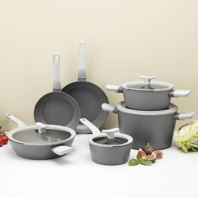 BergHOFF Leo Deluxe 10Pc Non-Stick Cookware Set, Gray