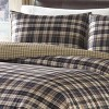 Port Gamble Plaid Duvet Cover And Sham Set Navy - Eddie Bauer® - image 3 of 4