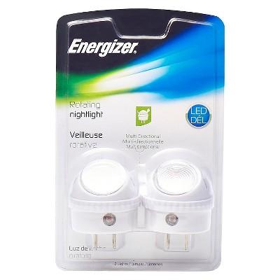 Energizer Rotating Guide LED Night Light - 2pk