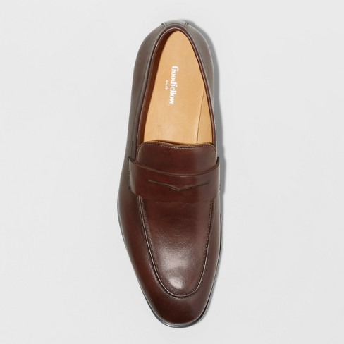 1878efb5a3f92 Men s Washington Loafer Leather Shoes - Goodfellow   Co™ Brown 9.5   Target