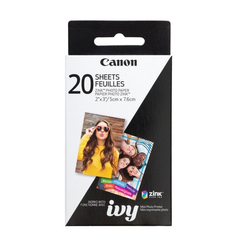 Canon ZINK Photo Paper Pack (20 Sheets) for the IVY Mini Photo Printer - image 1 of 3