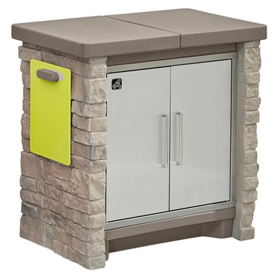 Stonefront Patio Collection Cooler & Storage - Step2