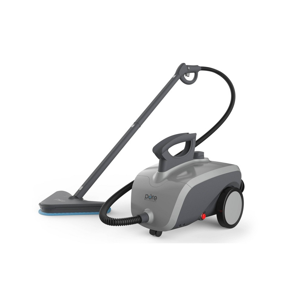 Image of Pure Enrichment Pureclean Xl Rolling Steam Cleaner - Light Stone, Gray