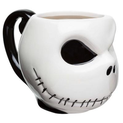 Zak Designs Disney Nightmare Before Christmas Jack Skellington 11oz Halloween Ceramic Sculpted Mug