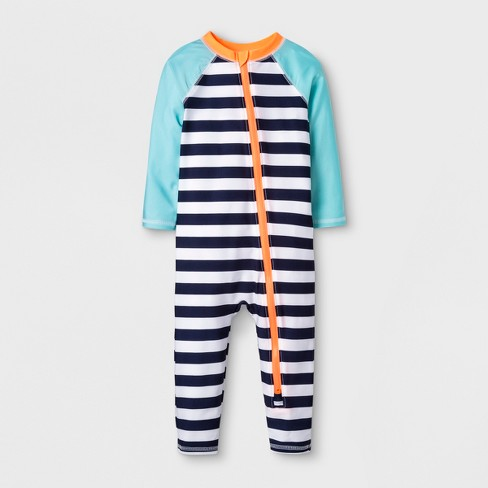 f28b5c78ba Baby Boys' Long Sleeve One Piece Swimsuit - Cat & Jack™ Navy : Target