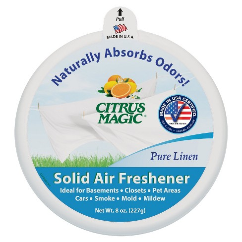 Citrus Magic Solid Air Freshener 8 oz, 3 pk - Pure Linen - image 1 of 1