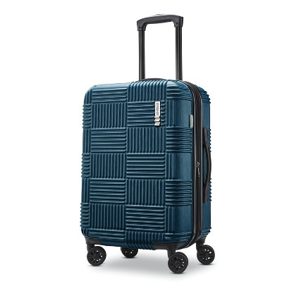 American Tourister 20  Checkered Hardside Suitcase - Teal