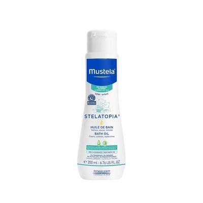 Mustela Stelatopia Fragrance Free Baby Bath Oil for Eczema Prone Skin - 6.76 fl oz