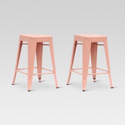 Carlisle 24  Metal Counter Stool - Dusty Pink (Set of 2)- Threshold™