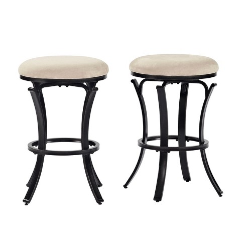 Hedley Swivel Counter Stool Black Gold with Tan Cushion - Crosley® - image 1 of 7