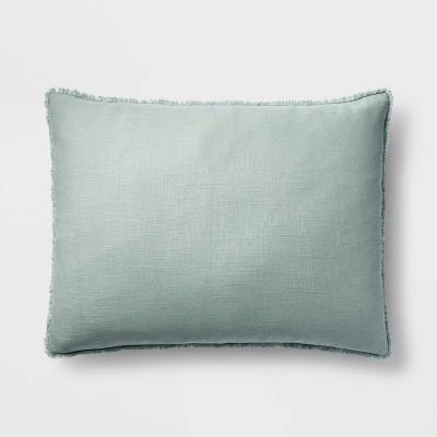 King Euro Heavyweight Linen Blend Throw Pillow Sage Green - Casaluna™