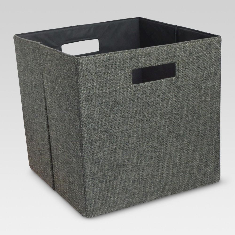 13 Fashion Cube Storage Bin - Threshold, Gray Linen