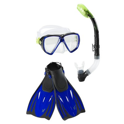 Snorkel Sets Speedo Blue Yellow