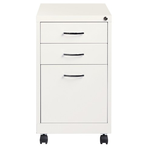 Hirsh Industries Office Dimensions File Cabinet On Wheels 3 Drawer Pearl White Target