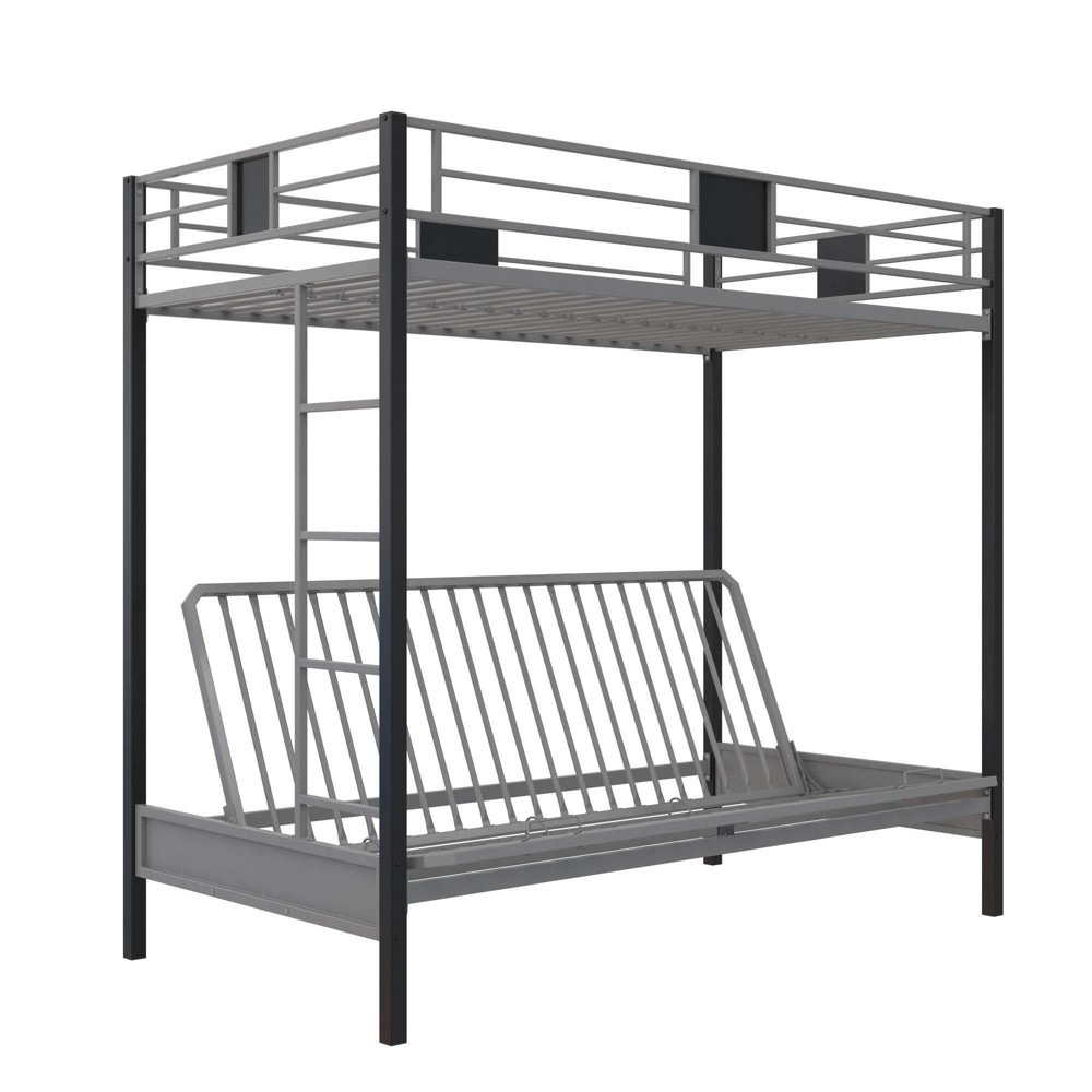 Over Futon Silver Screen Metal Bunk Bed