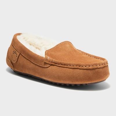 Women's dluxe by dearfoams Fernie Genuine Shearling Moccasin Slippers