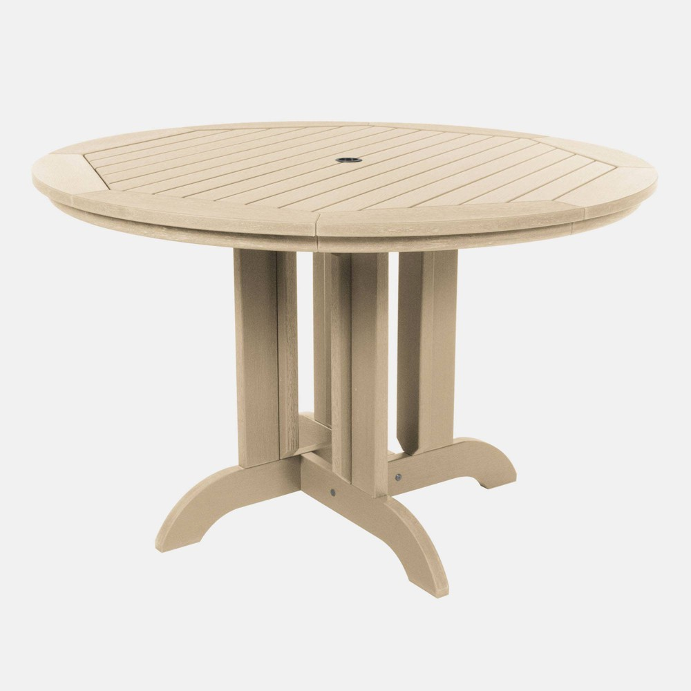 "Image of ""48"""" Round Patio Dining Table Tuscan Taupe - highwood, Tuscan Brown"""