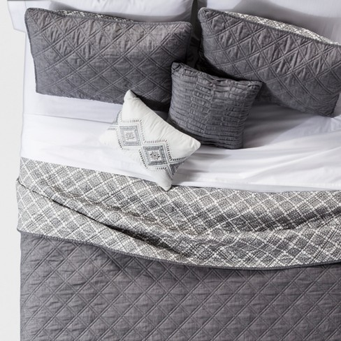 5pc Cole Stitched Chambray Quilt Set - image 1 of 2