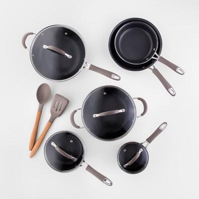 Cravings by Chrissy Teigen 12pc Aluminum Cookware Set Gray