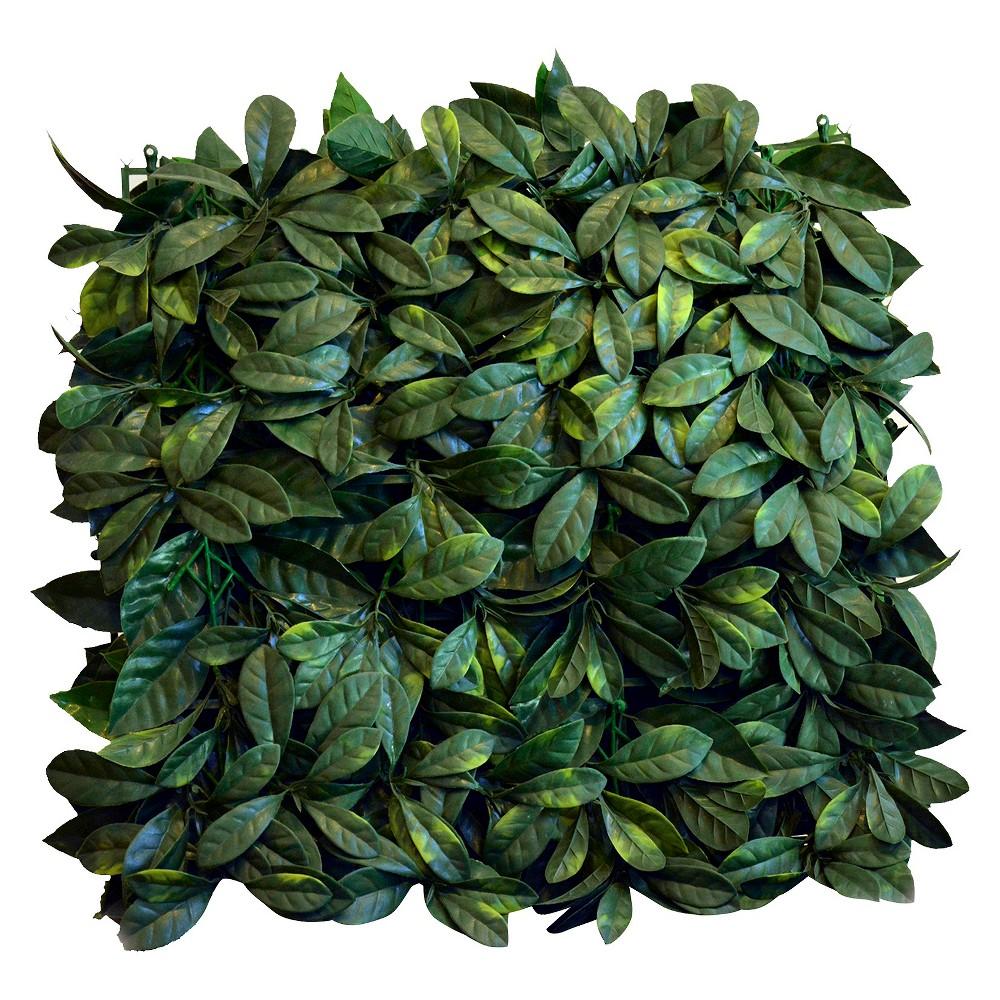 Image of Greensmart Decor Artificial Lemon Leaf Panel Set of 4 - Green