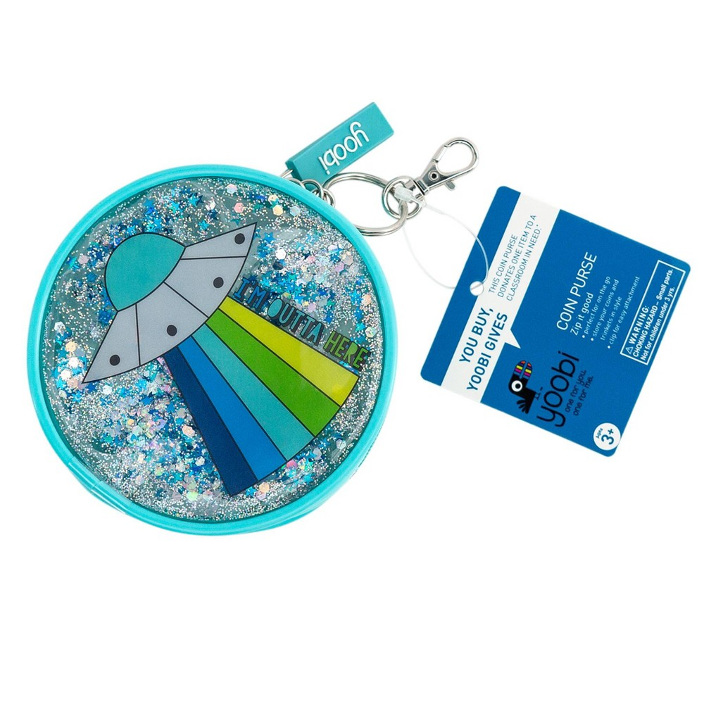 Coin Purse Keychain Spaceship Blue - Yoobi, Kids Unisex, Size: Small, Multi-Colored