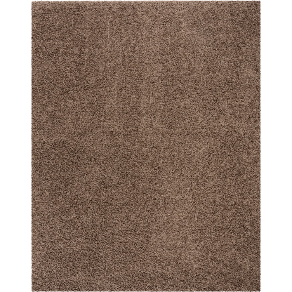 Solid Loomed Area Rug Taupe