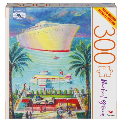 Milton Bradley Blue Board: By Air or By Water Jigsaw Puzzle - 300pc