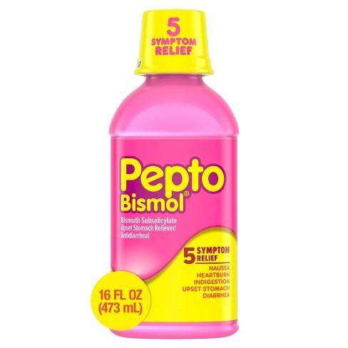 Pepto-Bismol 5 Symptoms Digestive Relief Original Liquid - 16 fl oz - image 1 of 4
