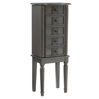 Tallow Jewelry Armoire Gray - Powell Company