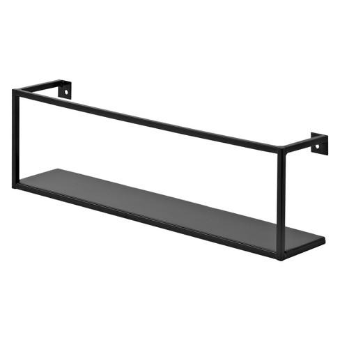 Floating Wall Shelf - Black - image 1 of 3