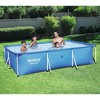 Bestway 8.5ft x 5.6ft x 2ft Steel Pro Rectangular Above Ground Swimming Pool - image 2 of 4