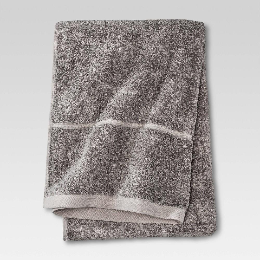 Botanic Solid Bath Sheet Cloak Gray Threshold 8482