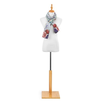 DEMDACO DS Rectangle Scarf - Hummingbird Floral One Size - Red
