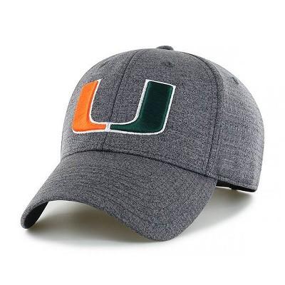 NCAA Miami Hurricanes Men's Gray Structured Mesh Hat