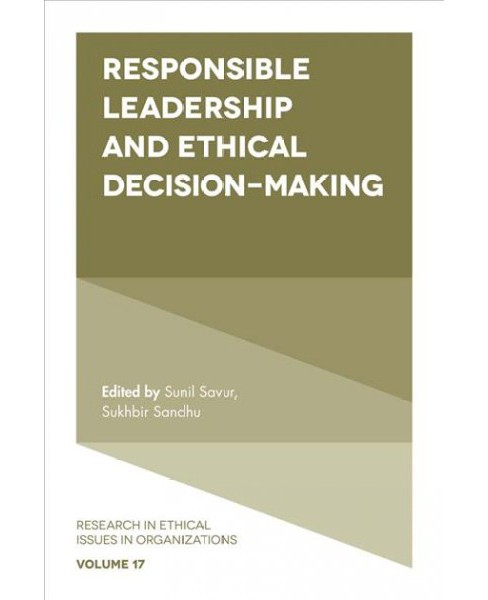 Responsible Leadership and Ethical Decision-Making (Hardcover) - image 1 of 1