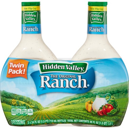 Hidden Valley Original Ranch Salad Dressing & Topping - Gluten Free - 24oz Bottle - 2pk - image 1 of 4
